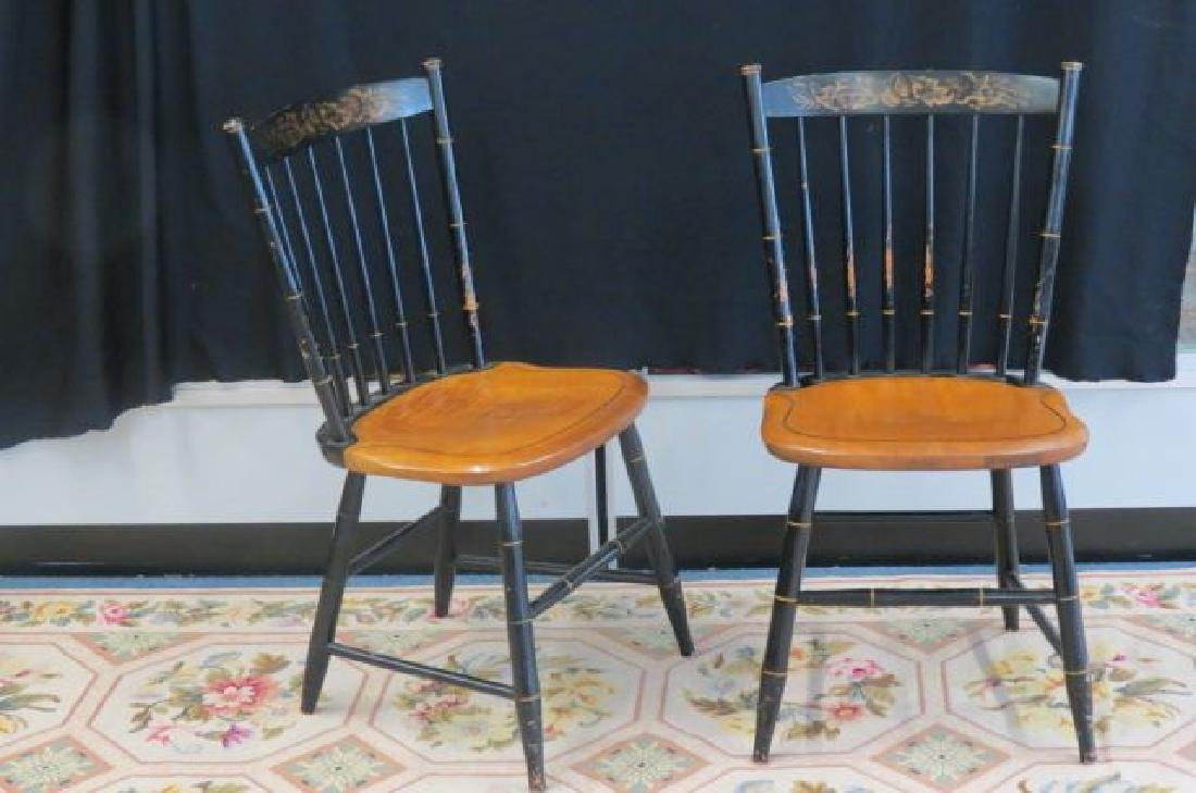 Set of 8 Hitchcock Style Chairs,