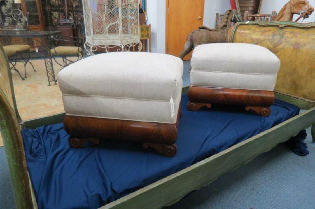 Pair of 19th Century Mahogany Stools,