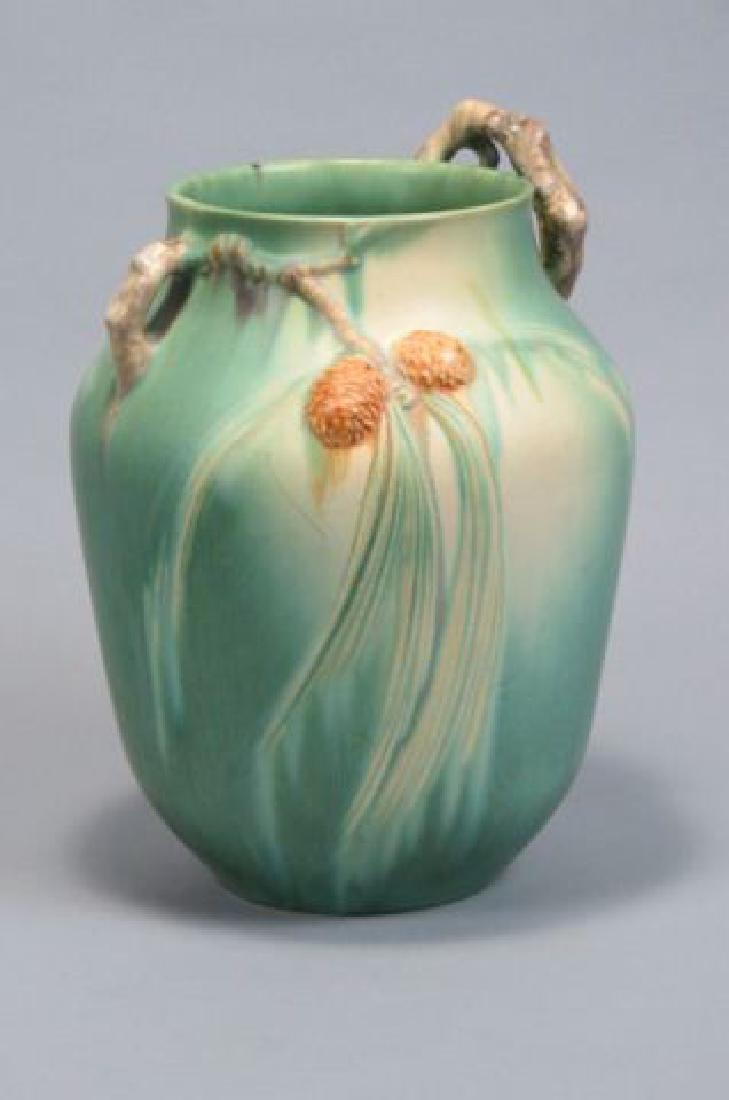 """Roseville Art Pottery """"Pinecone"""" Vase,"""