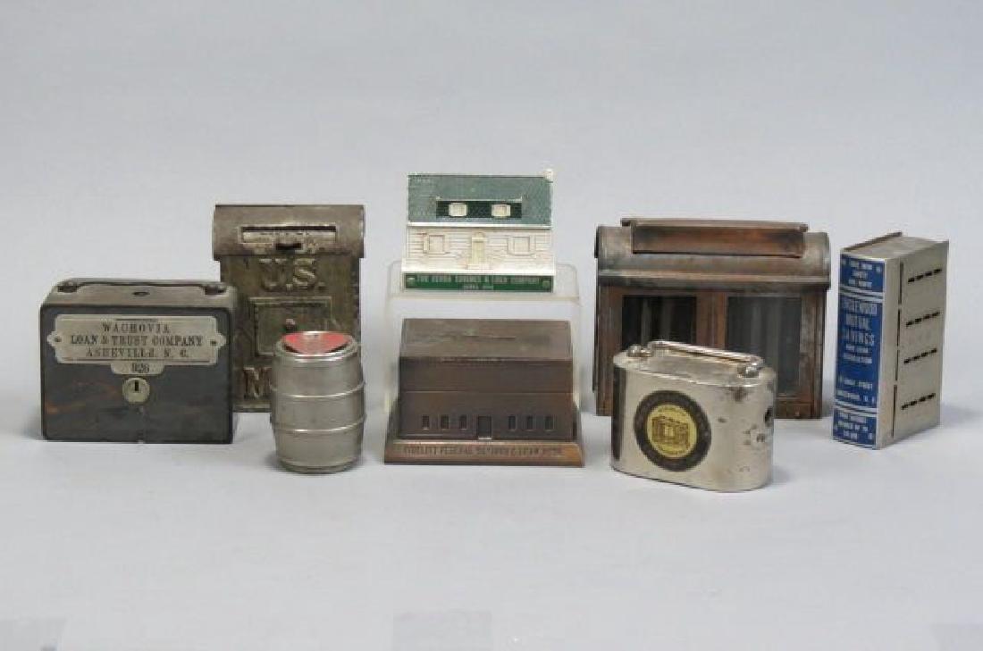 6 Vintage Savings &  Loan Co. Advertising Banks,