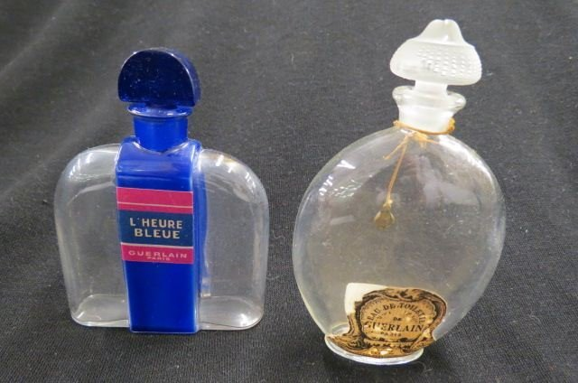 "2 Guerlain Perfume Bottles, ""L'Heure Bleue"","