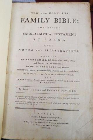 1770 Bible, fine engravings,