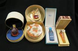 4 French Perfume Bottles in original boxes