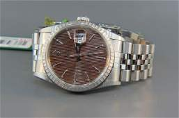 Man's Rolex Stainless Steel Wristwatch with Box, Papers