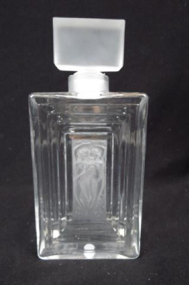 Lalique Crystal Perfume Bottle, Duncan #2,