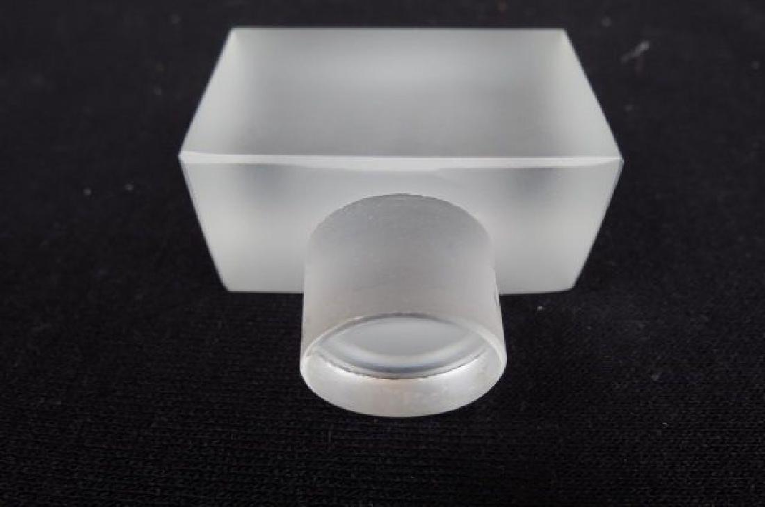 Lalique Crystal Perfume Bottle, Duncan #2, - 4