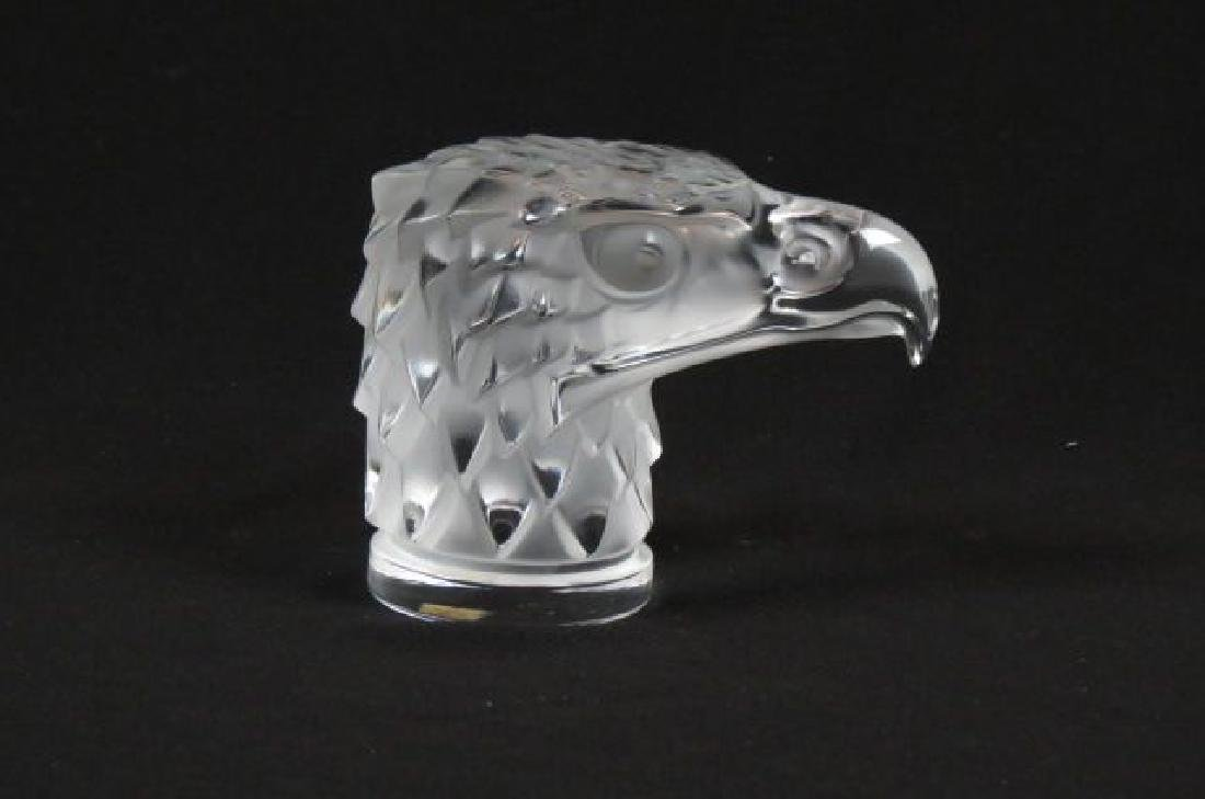 Lalique Crystal Figural Eagle Car Mascot ,
