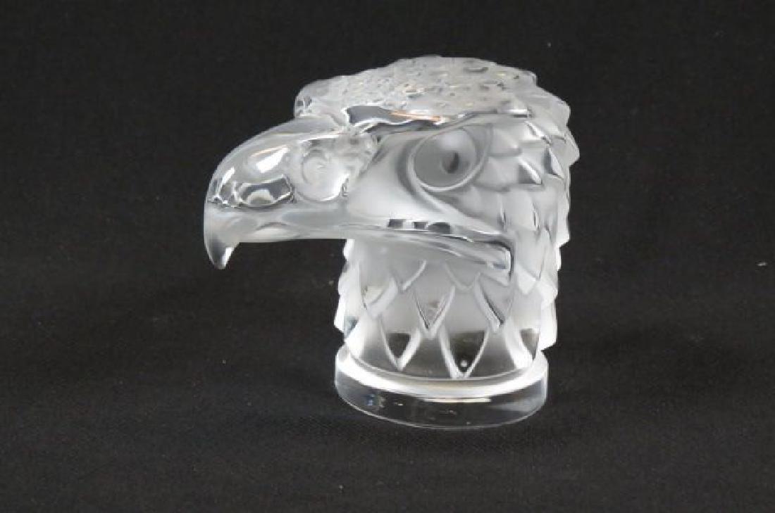 Lalique Crystal Figural Eagle Car Mascot , - 2