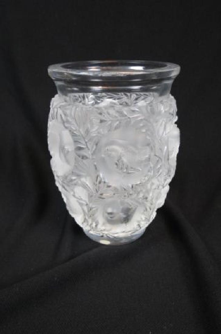 """Lalique Crystal """"Bagatelle"""" Vase, lovebirds, - 2"""