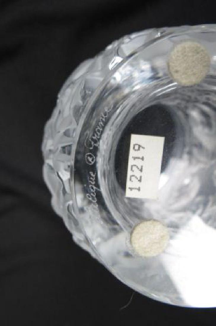 """Lalique Crystal """"Bagatelle"""" Vase, lovebirds, - 4"""