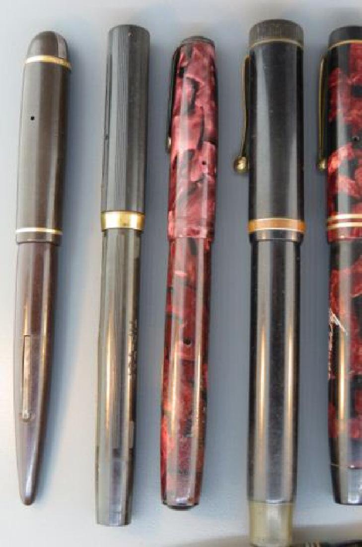 Collection of 11 Fountain Pens, - 2