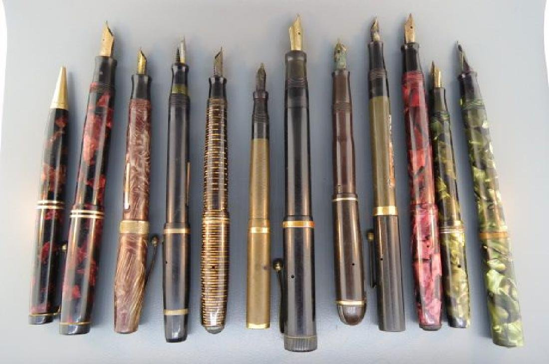 Collection of 11 Fountain Pens, - 5