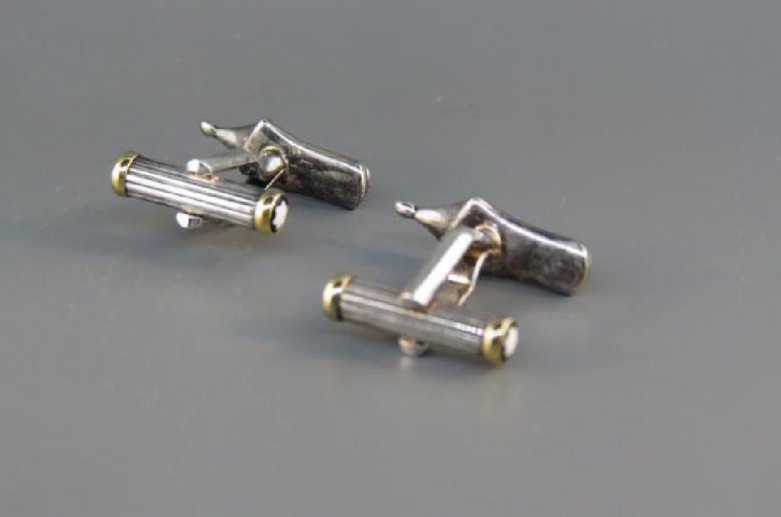 Montblanc Figural Pen Nib Cufflinks, - 2