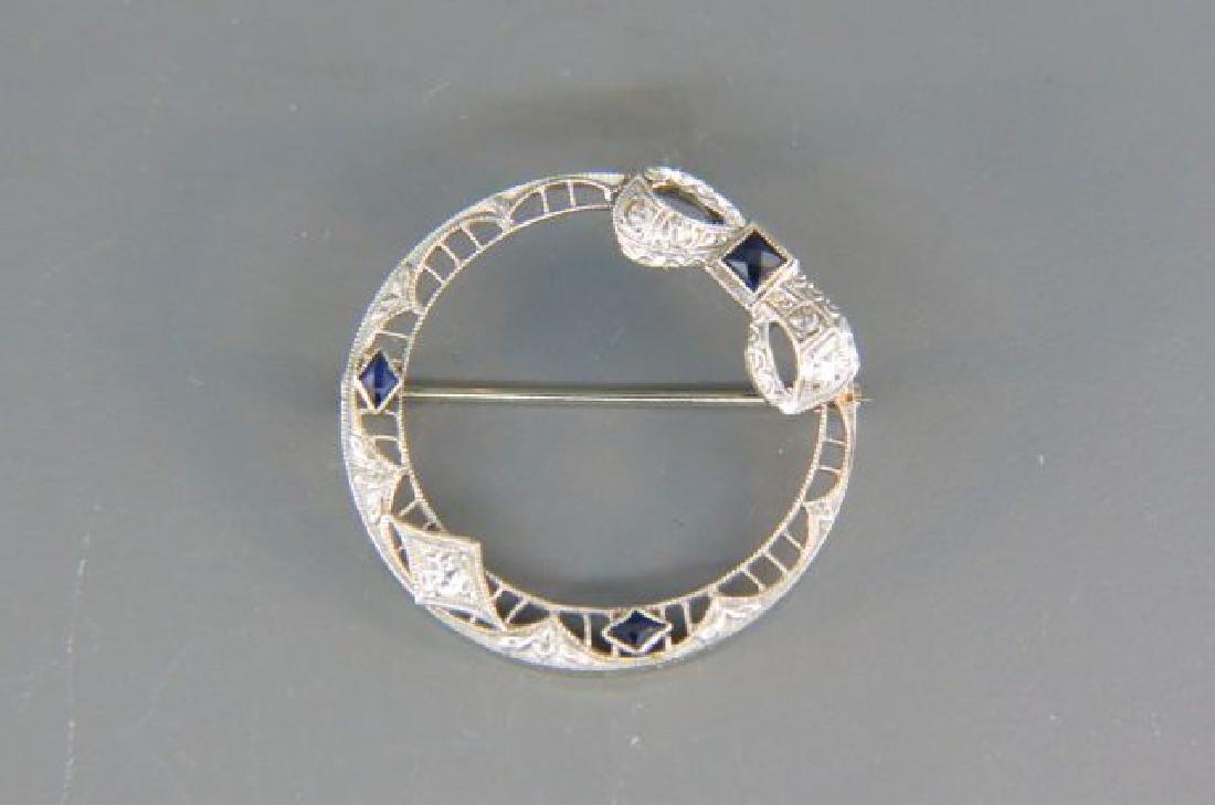 Diamond & Sapphire Brooch,