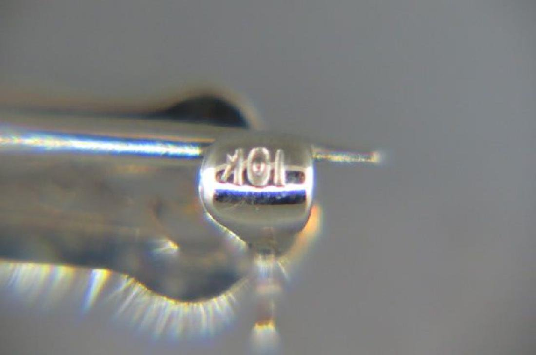 Amethyst 14K Gold Bar Pin, - 3