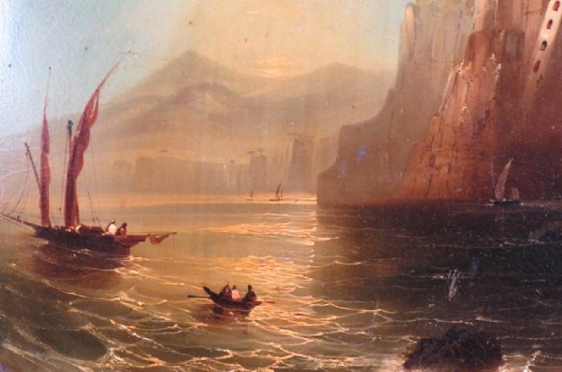 """19th Century Lacquerware Scenic Tray """"Sorrento, - 2"""