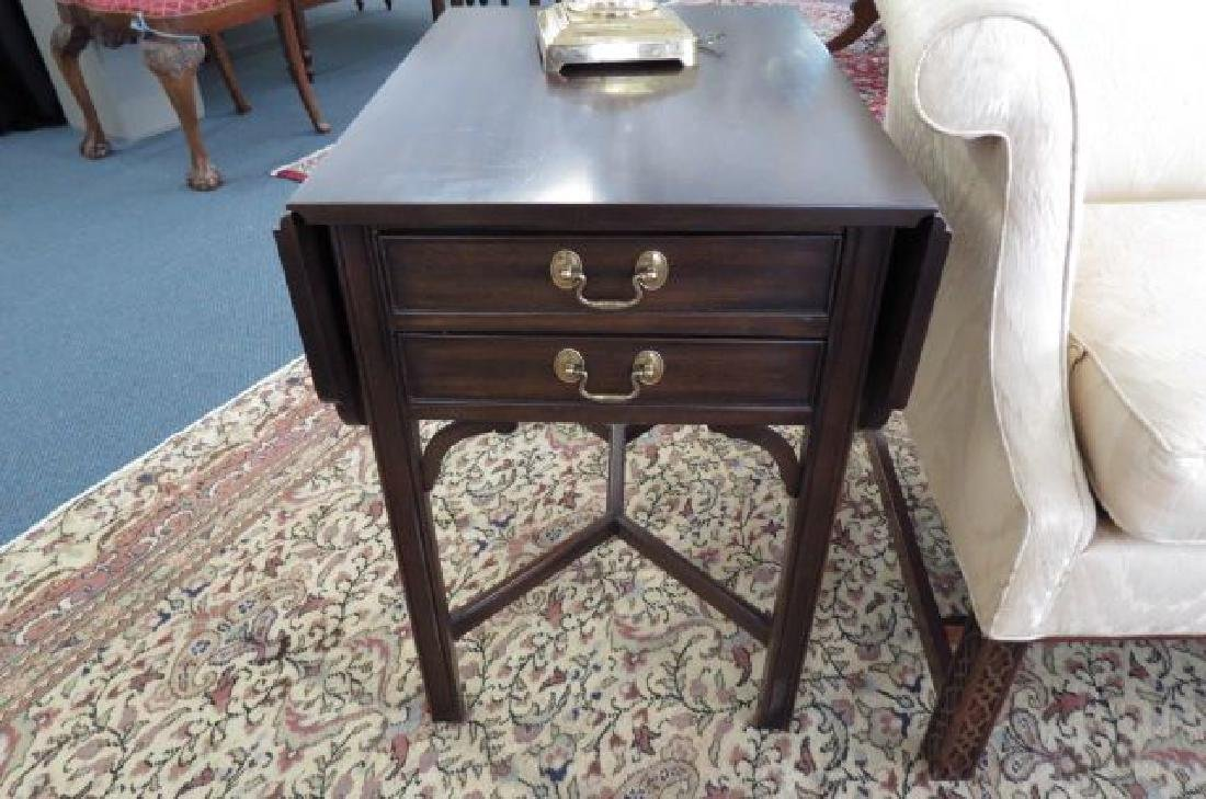 Pair of Mahogany Pembroke Side Tables, - 2