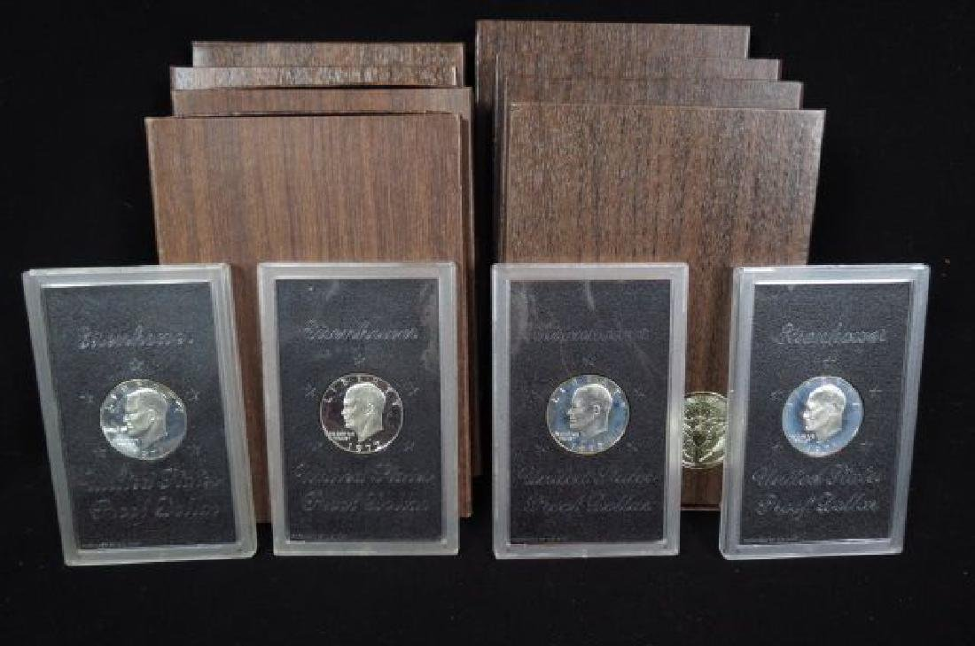 12 Special Proof Eisenhower Silver Dollars,