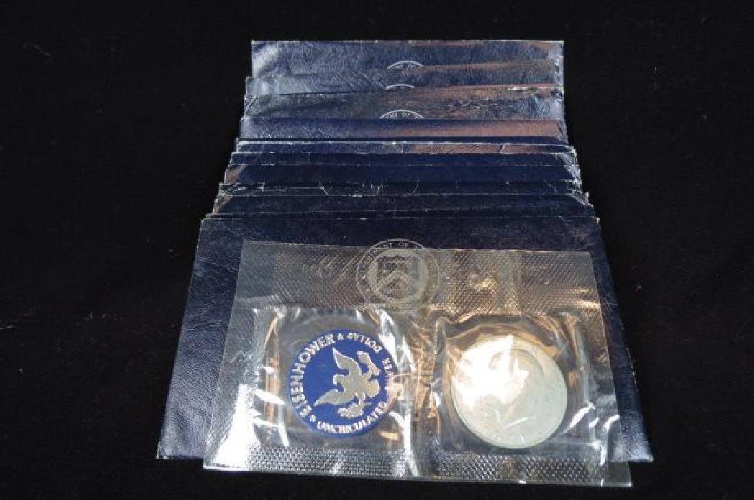 13 1971 Special Eisenhower Silver Dollars,