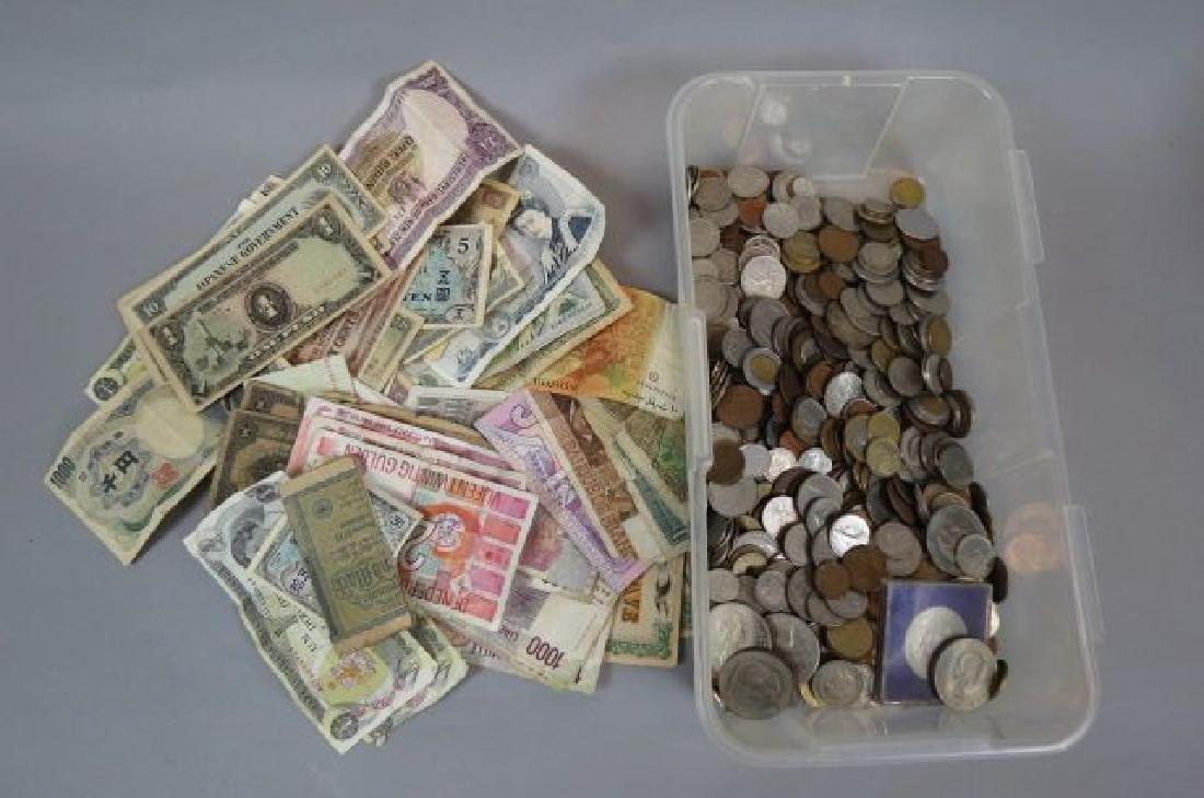 Worldwide Coin & Paper Money Lot,