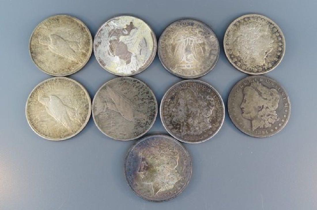 9 U.S. Silver Dollars,