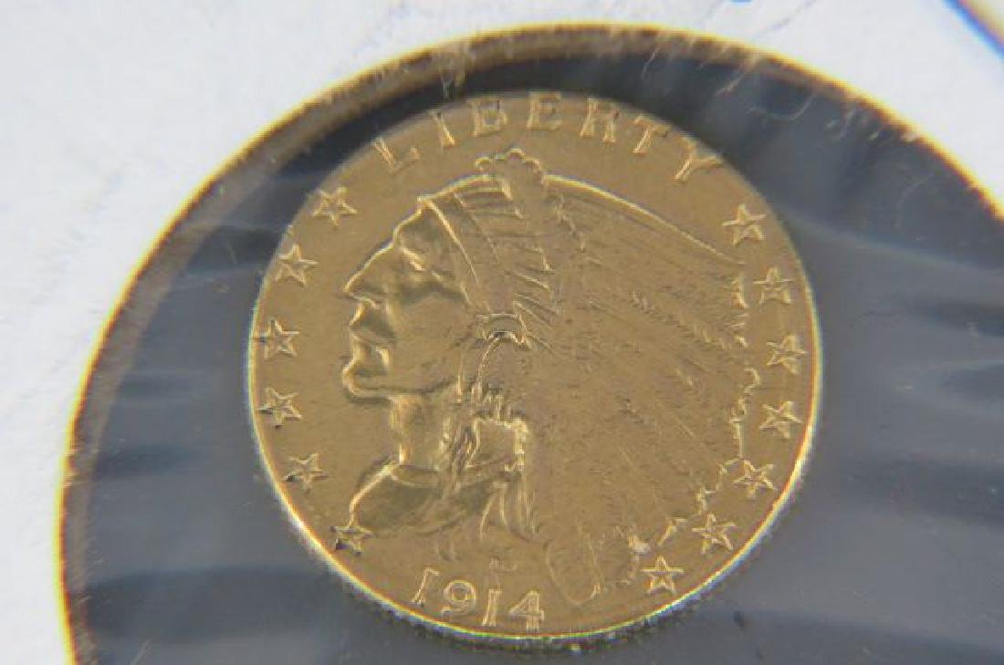 1914-D U.S. $2.50 Indian Head Gold Coin,