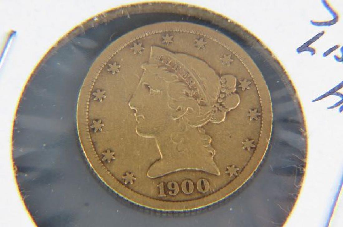 1900-S U.S. $5.00 Liberty Head Gold Coin,