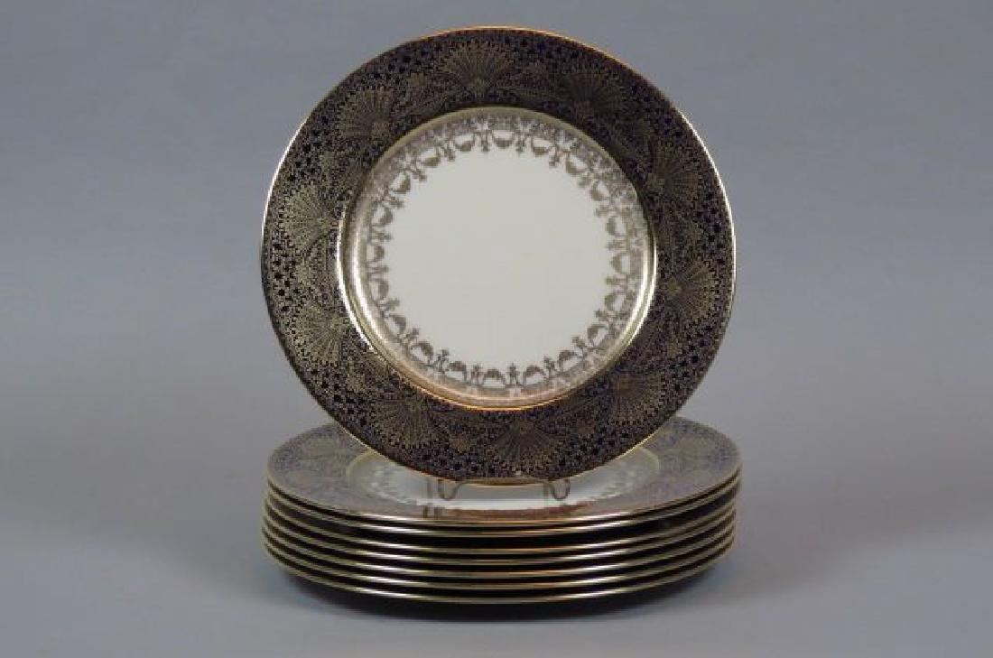 8 Lenox Porcelain Service Plates,