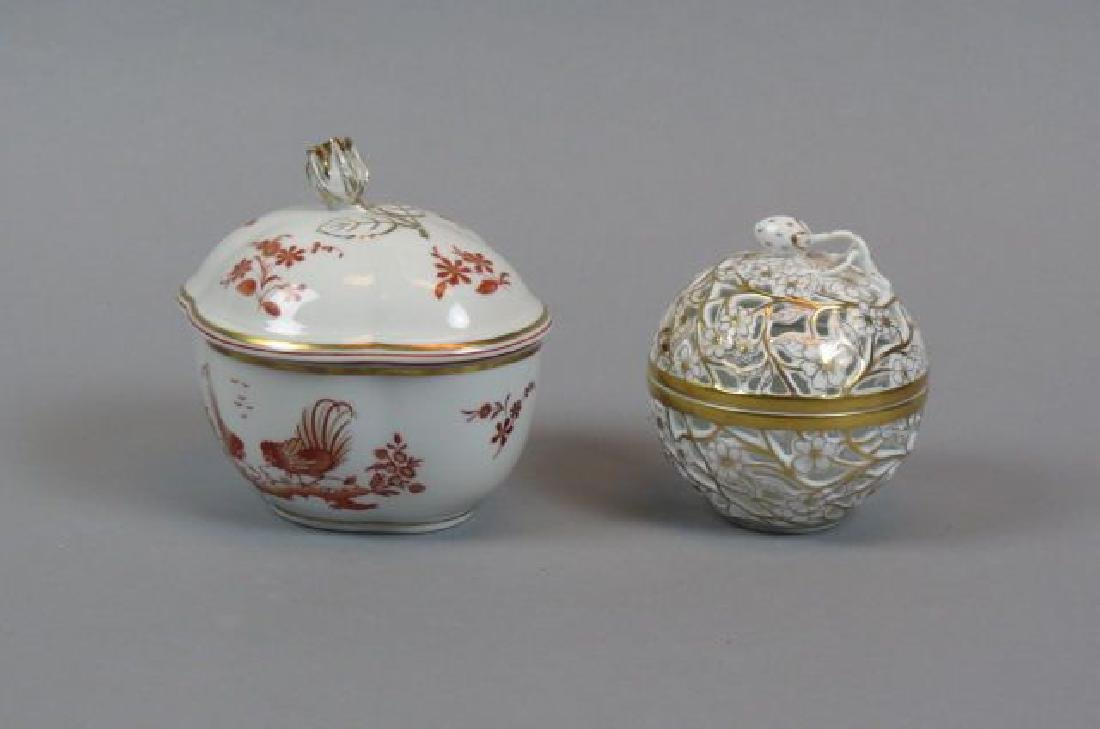 Herend & Richard Ginori Porcelain Boxes,