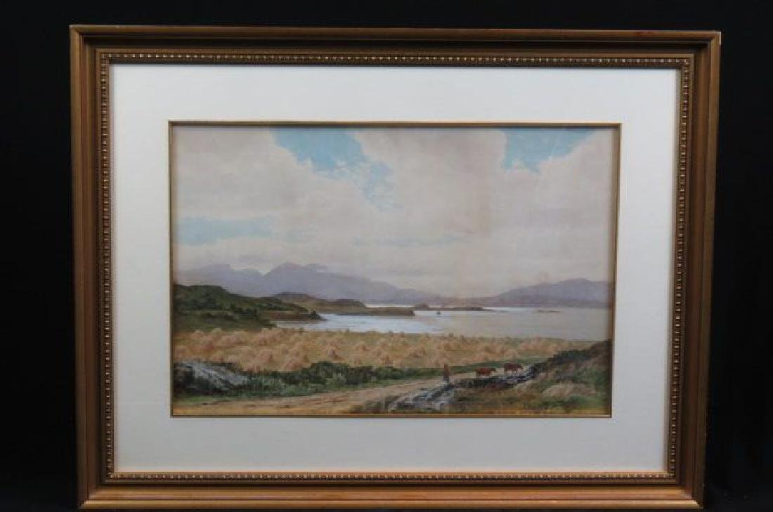 John Nesbitt, watercolor, Scottish landscape,