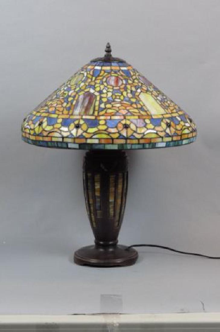 Tiffany Style Leaded Glass Lamp,