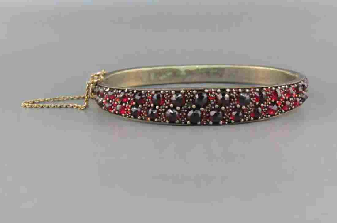 Victorian Garnet Bangle Bracelet,