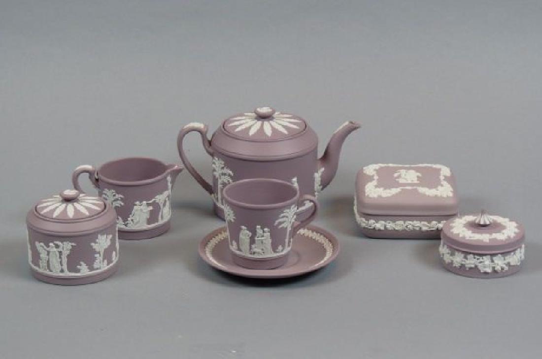 7 pcs. Wedgwood Lilac Jasperware,