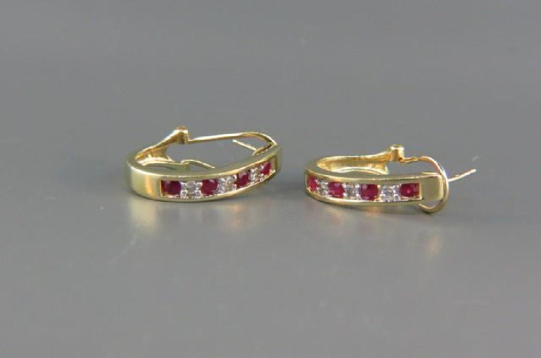 Ruby & Diamond Earrings,
