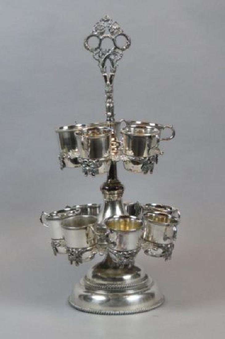 19th Century Silverplate Cup Stand,