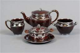 4 pcs Lenox Porcelain with Silver Overlay