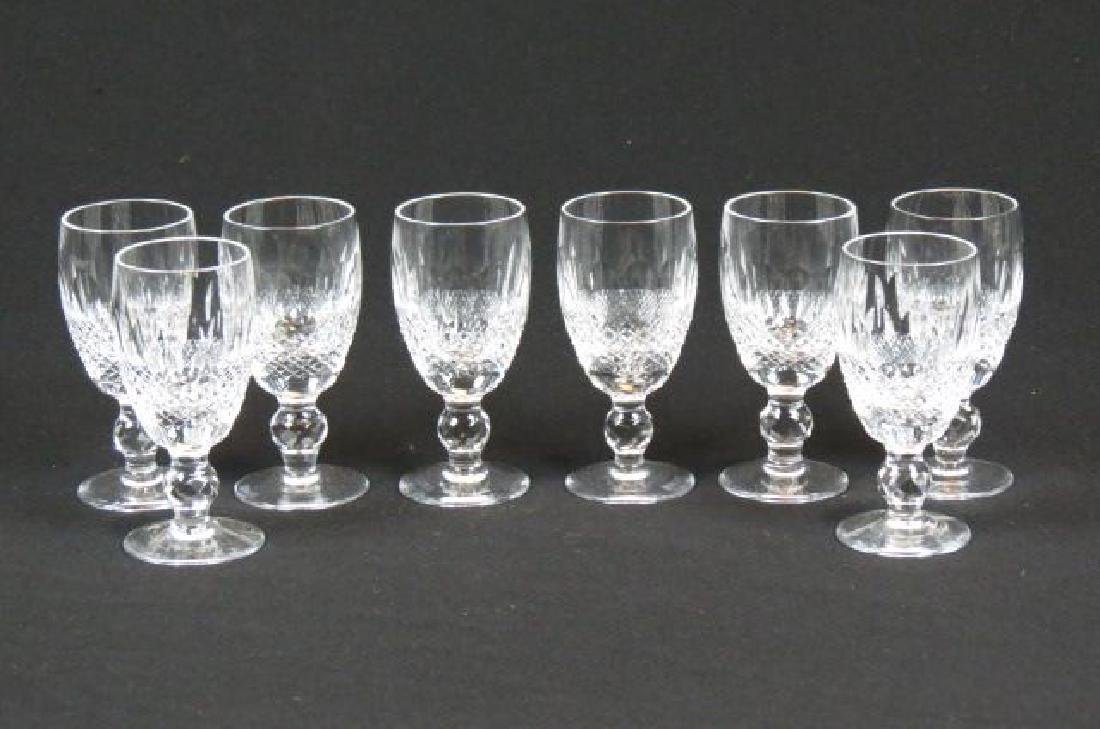 "8 Waterford ""Colleen"" Cut Crystal Shery Glasses,"