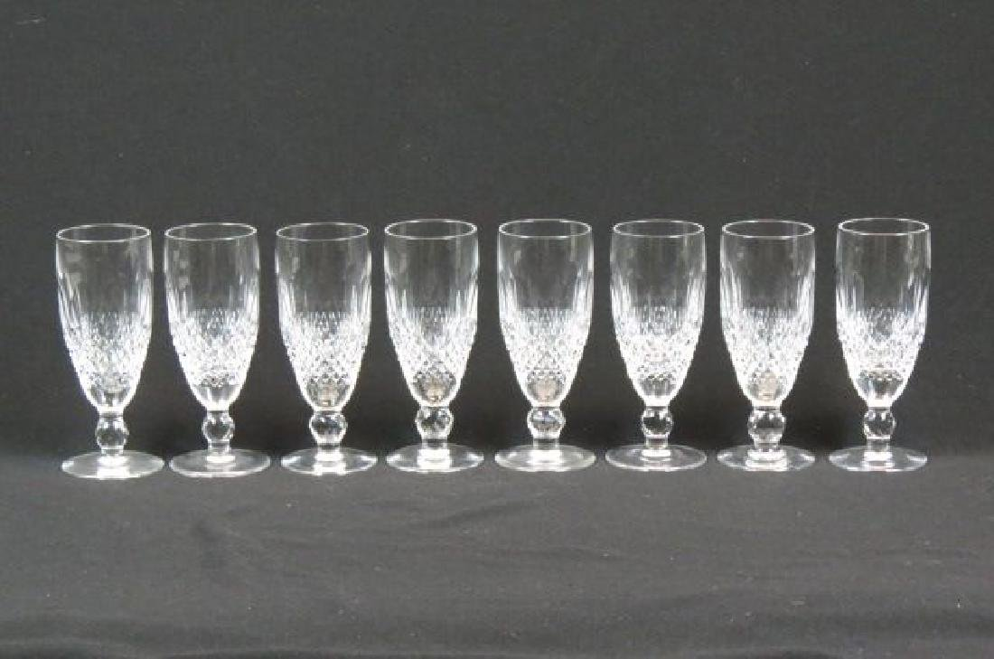 "8 Waterford ""Colleen"" Cut Crystal Fluted Champagne"