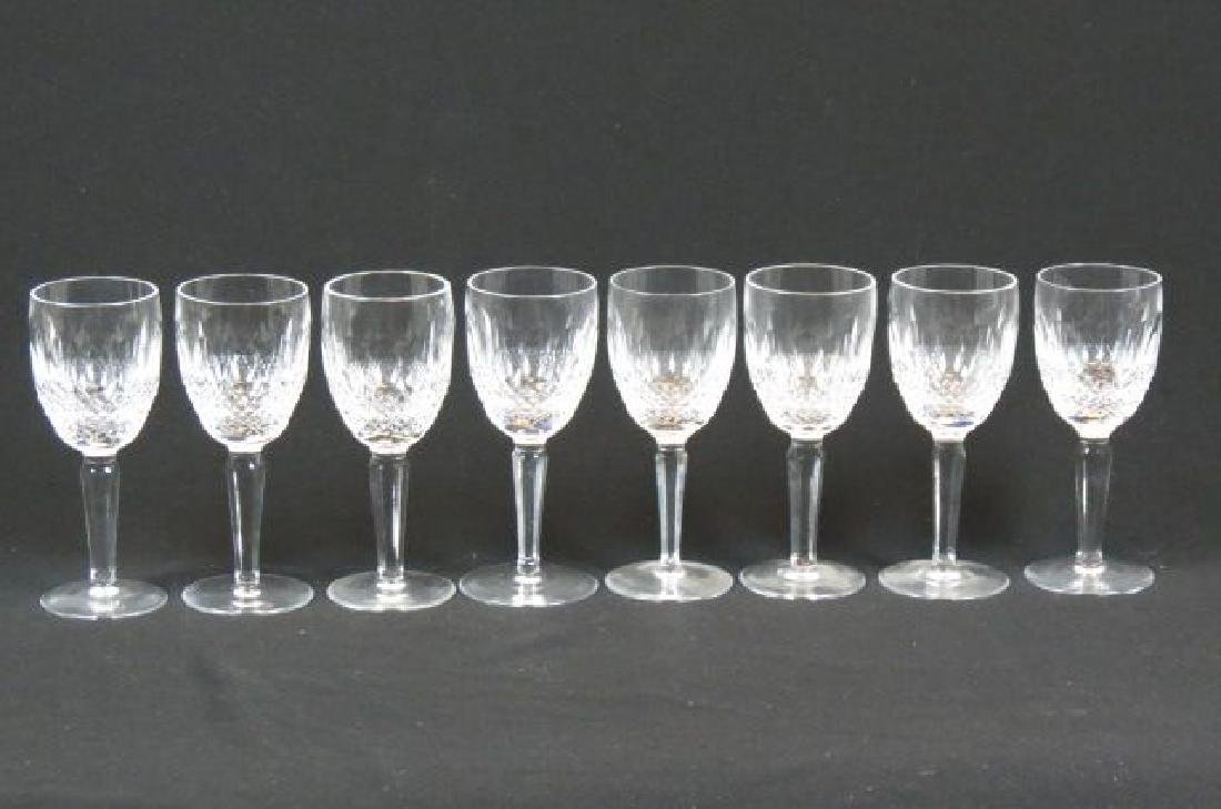 """8 Waterford """"Colleen"""" Cut Crystal Tall Wines,"""
