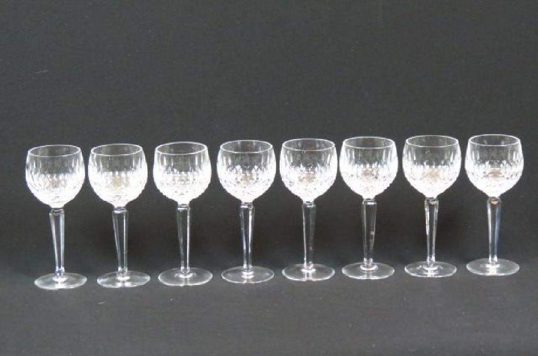 """8 Waterford """"Colleen"""" Cut Crystal Wine Hocks,"""