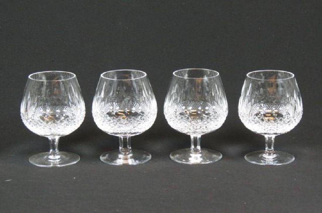 "4 Waterford ""Colleen"" Cut Crystal Brandy Glasses,"