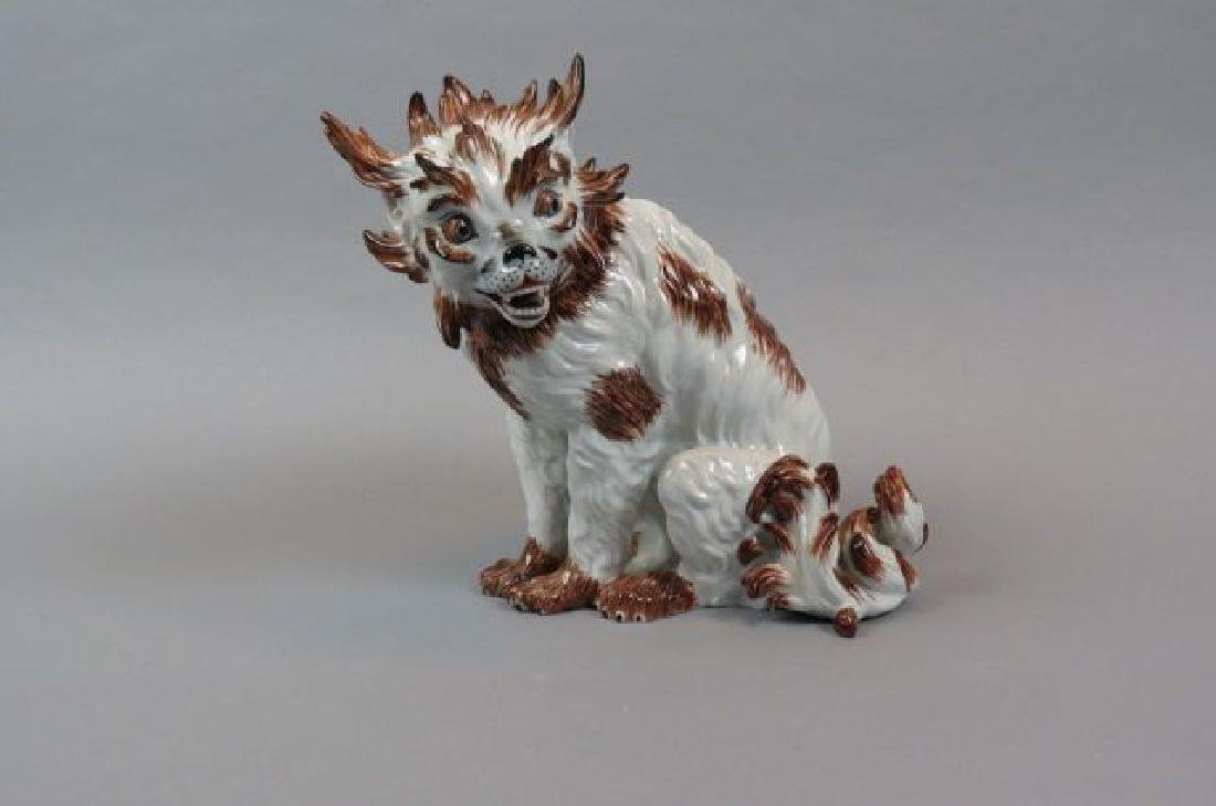 Dresden Porcelain Figurine of a Dog,