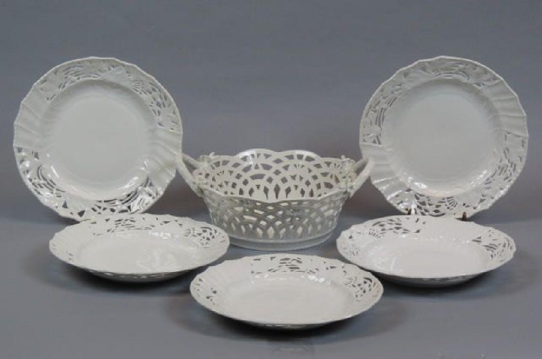 6 pcs. KPM Royal Berlin Reticulated Porcelain;