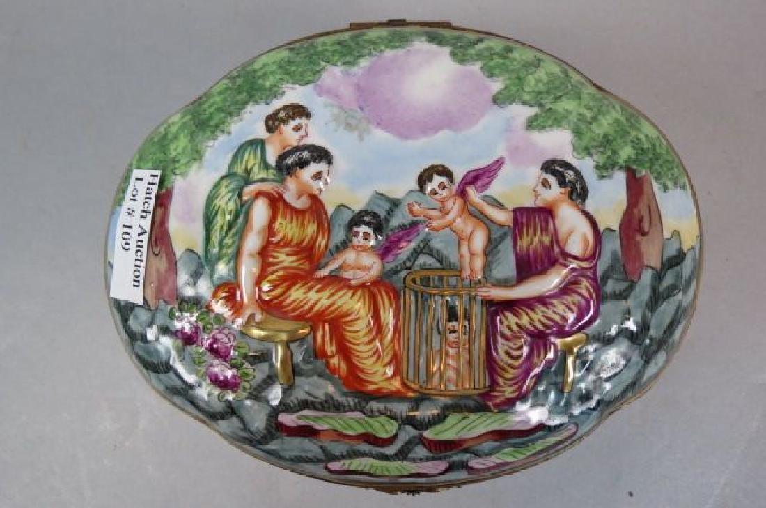 Capodimonte Porcelain Dresser Box,