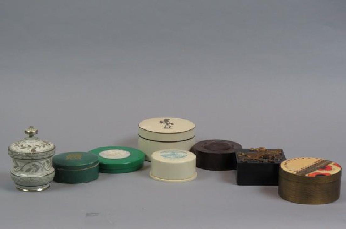 8 Vintage Powder Boxes,