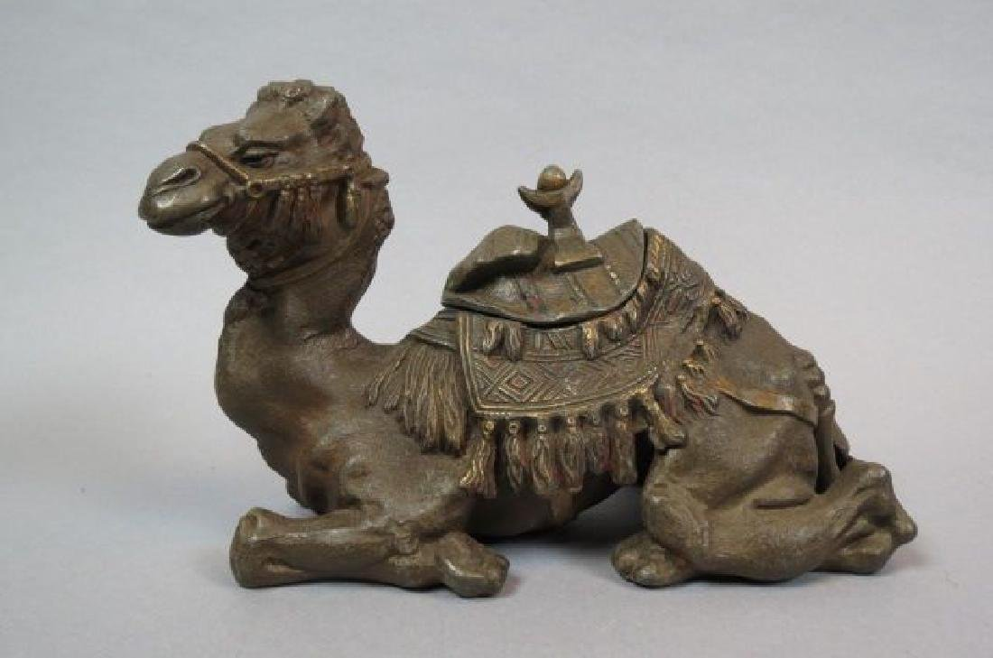 Figural Camel Inkwell,