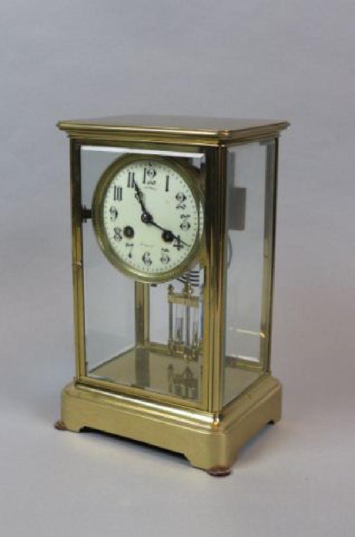 French Brass Regulator Mantle Clock,