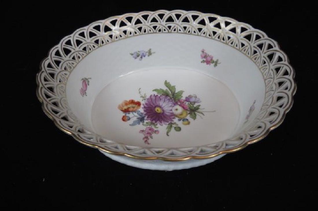 Dresden Porcelain Oval Basket,