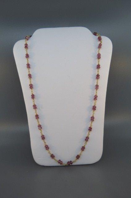 Tiffany 18K Gold Tourmaline Necklace,