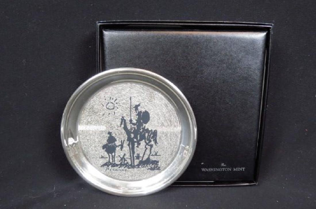 "Picasso Enameled Sterling Plate ""Don Quixote"","